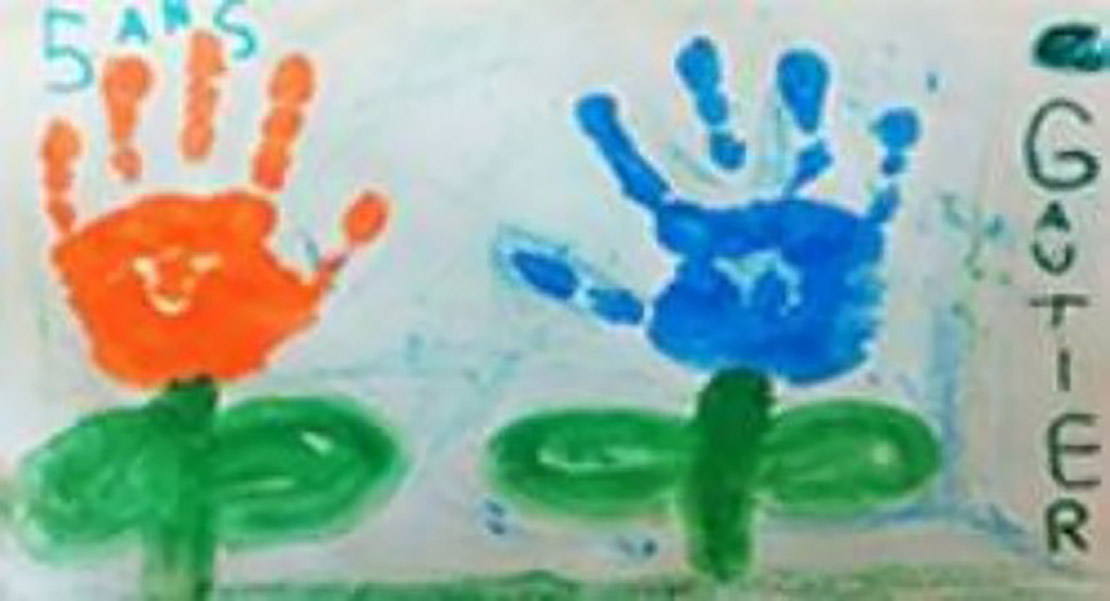 One of the colourful drawings by our employees' children.