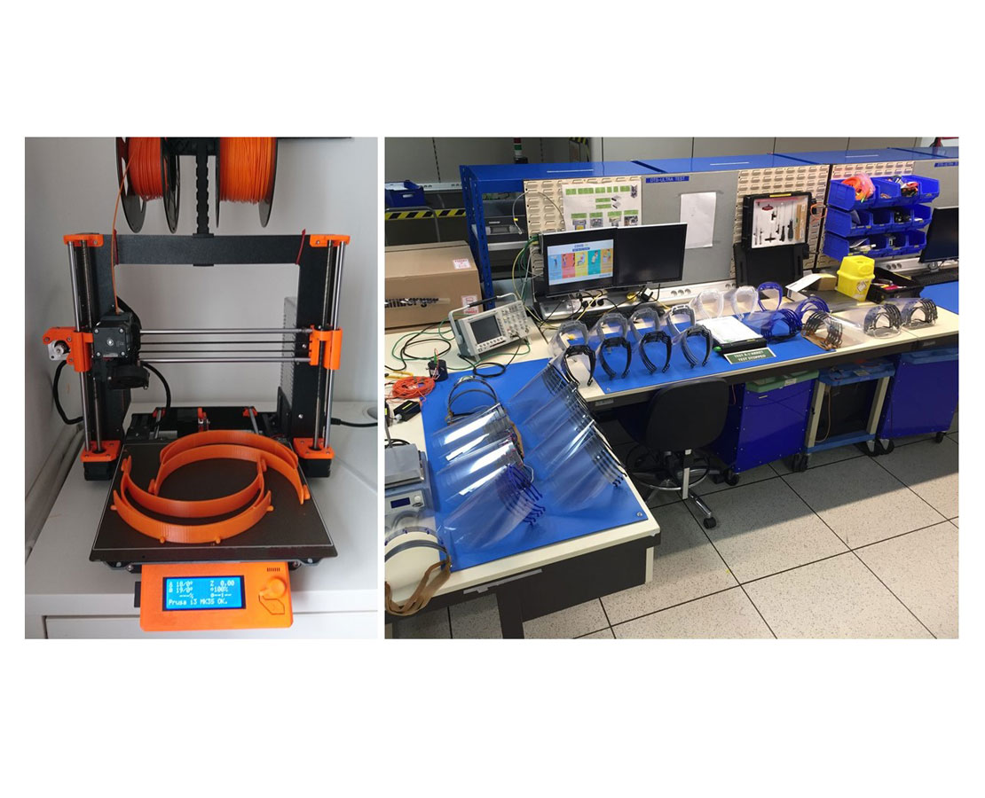 The company's engineering community put their expertise into practice to manufacture PPE on 3D printers.